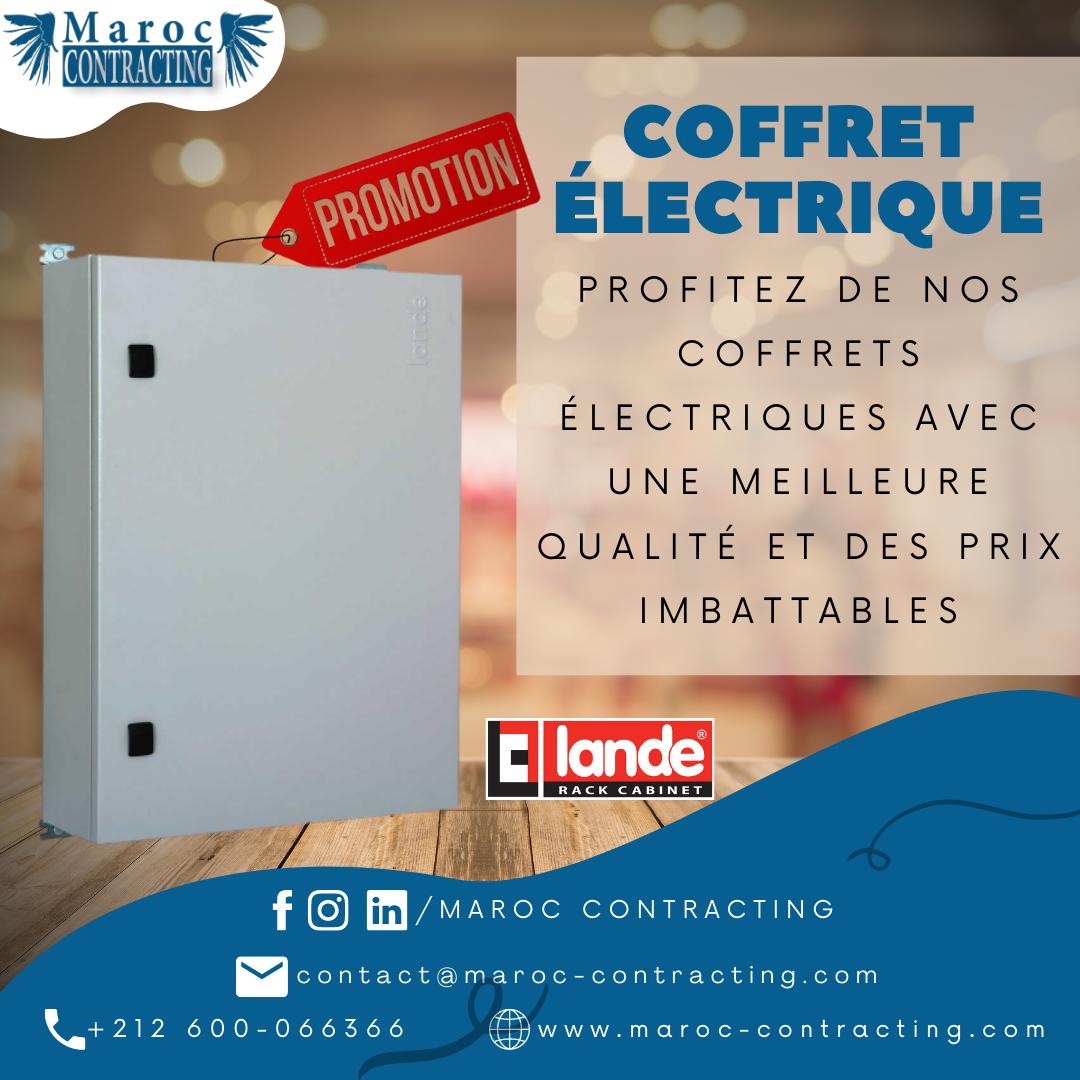 Nouvelle promotion sur nos «Coffrets Électriques»
